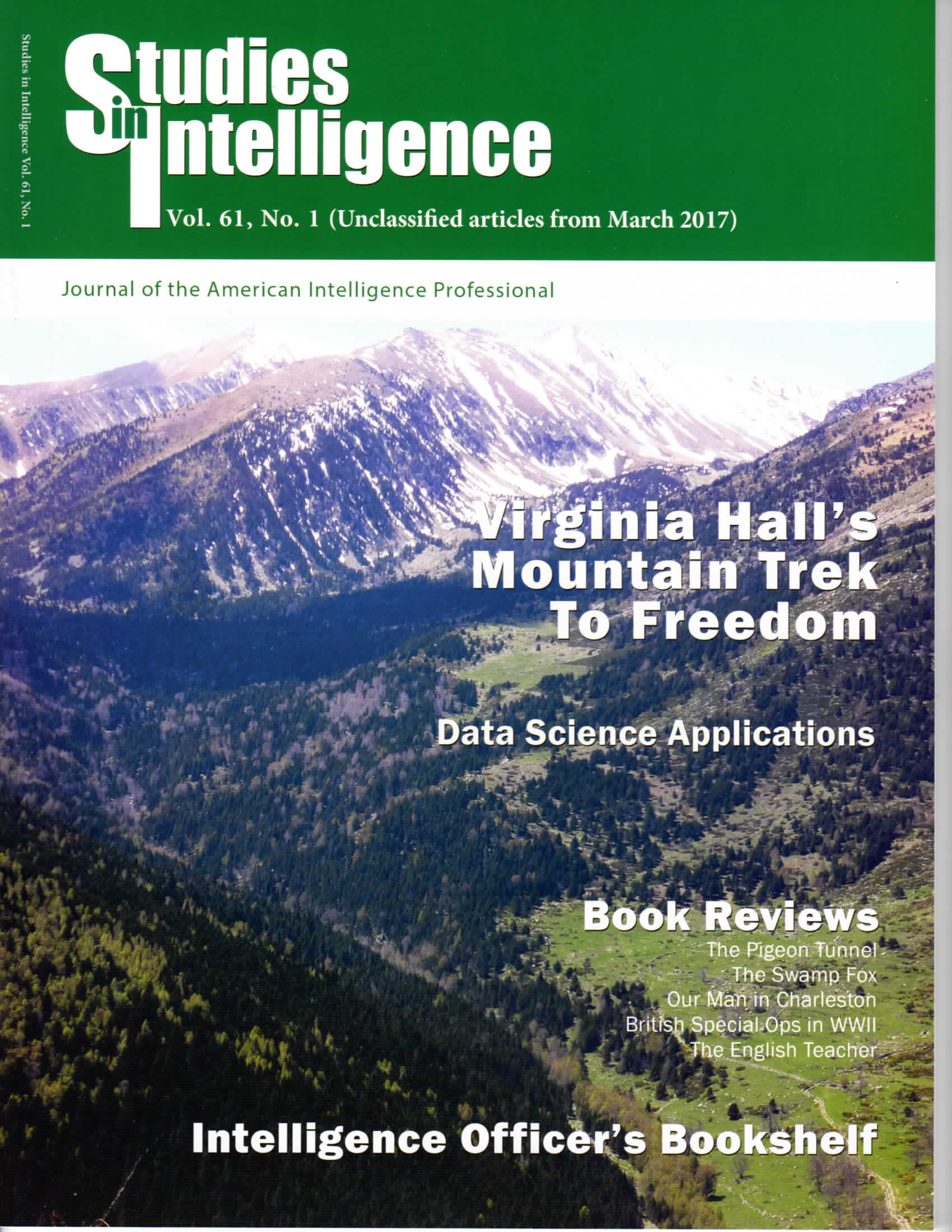 Studies in Intelligence magazine Cover